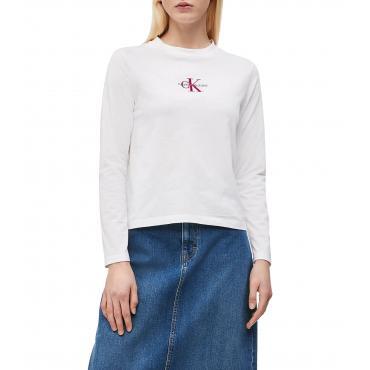 Maglia Calvin Klein Jeans a maniche lunghe con logo da donna rif. J20J211804