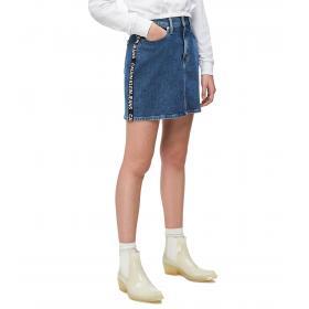 Minigonna Calvin Klein Jeans in denim a vita alta da donna rif. J20J211832