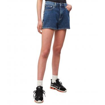 Shorts pantaloncini Calvin Klein Jeans in denim a vita alta da donna rif. J20J212066