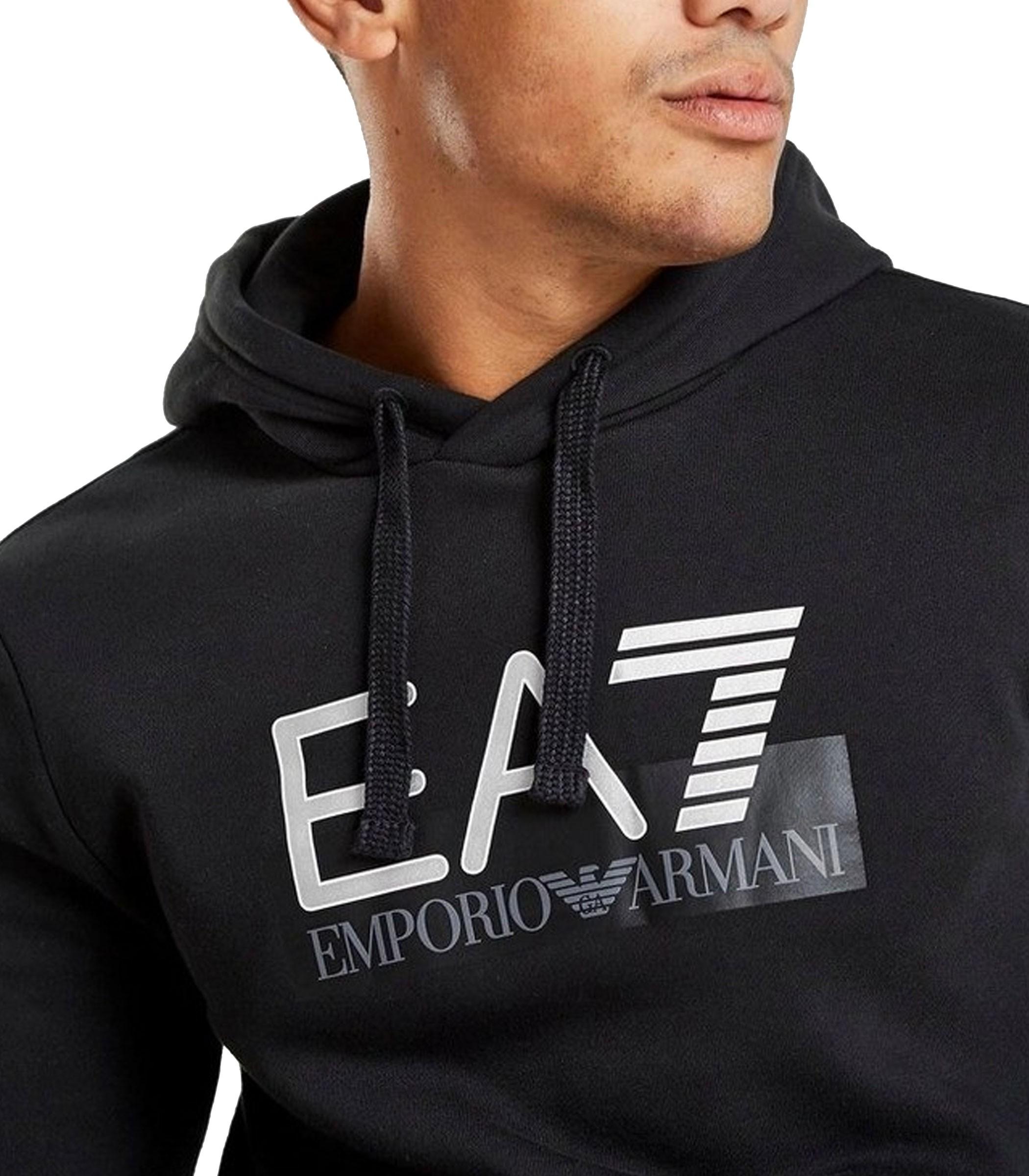 EA7 Uomo Felpe con Logo Nero