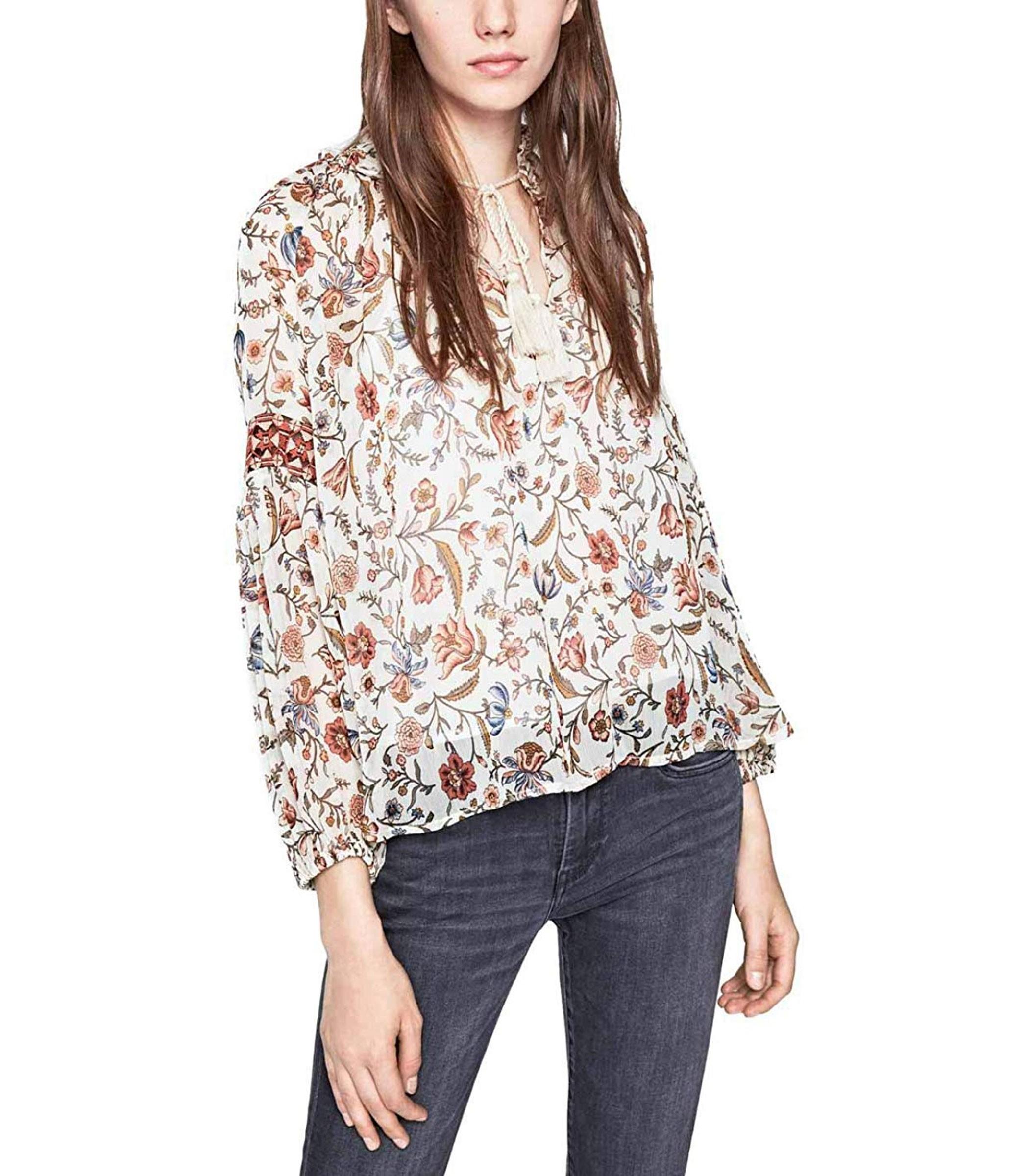 free shipping 809b5 650b4 Camicia blusa Pepe Jeans Tyra con stampa floreale da donna ...