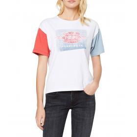T-shirt girocollo con stampa Pepe Jeans Afida da donna rif. PL504147
