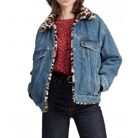 Giubbotto Levi's Dad Reversible Fur Trucker reversibile da donna rif. 83958-0000