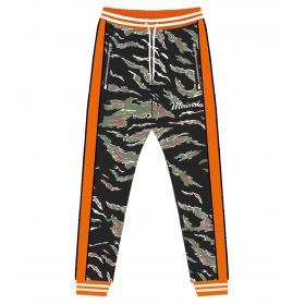 Pantaloni in tuta Minimal Couture fantasia mimetica bande laterali da uomo rif U2102