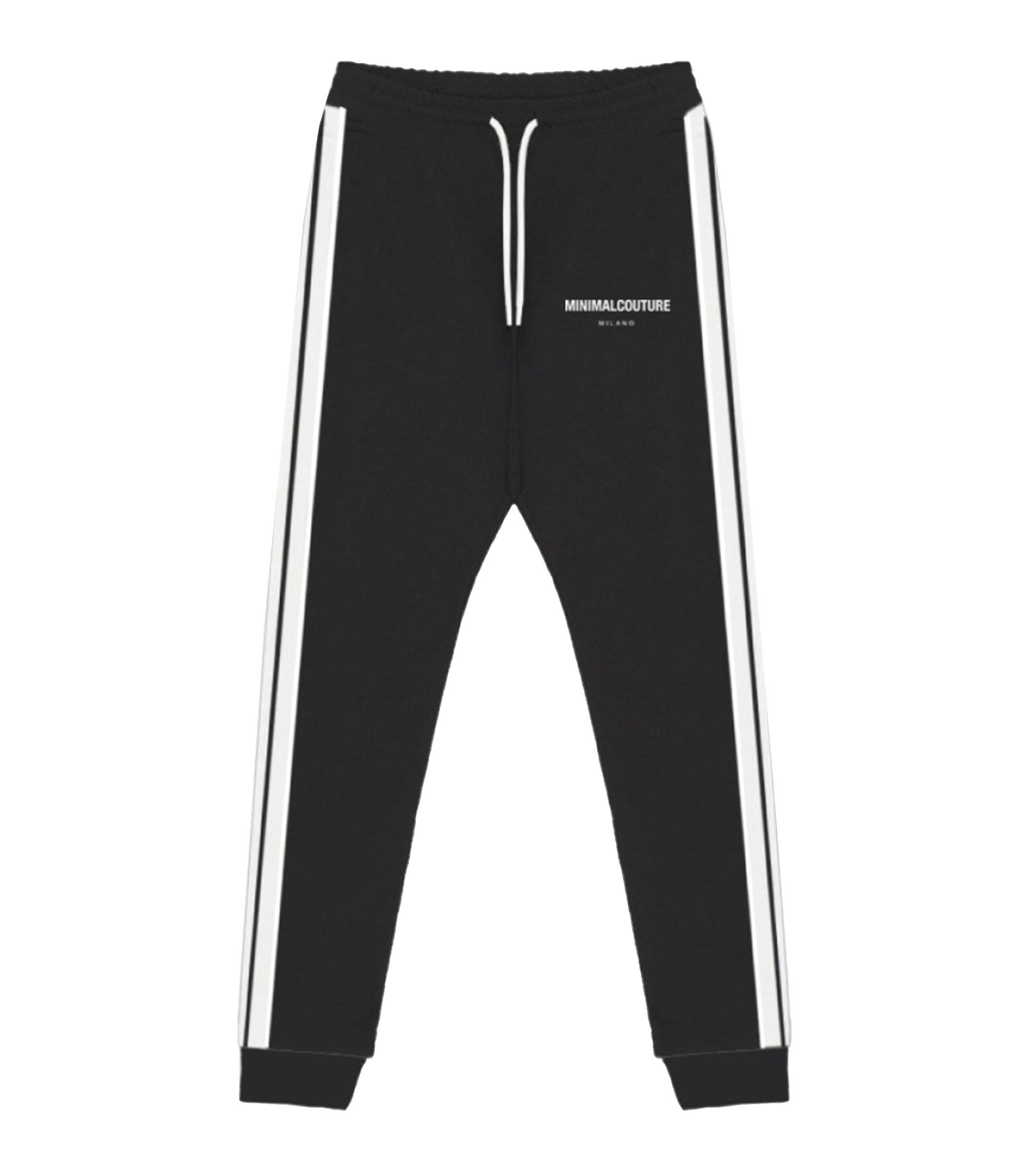 Pantaloni in tuta Minimal Couture con bande laterali uomo