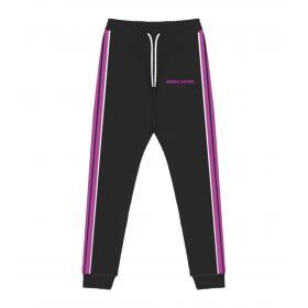 Pantaloni in tuta Minimal Couture con bande laterali e stampa da uomo rif. U2213