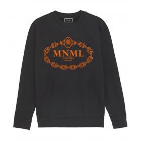 Felpa Minimal Couture con ricamo catena fluo da donna rif. D1647