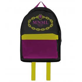 Zaino Minimal Couture multicolor con stampa catena e logo unisex rif. A0517
