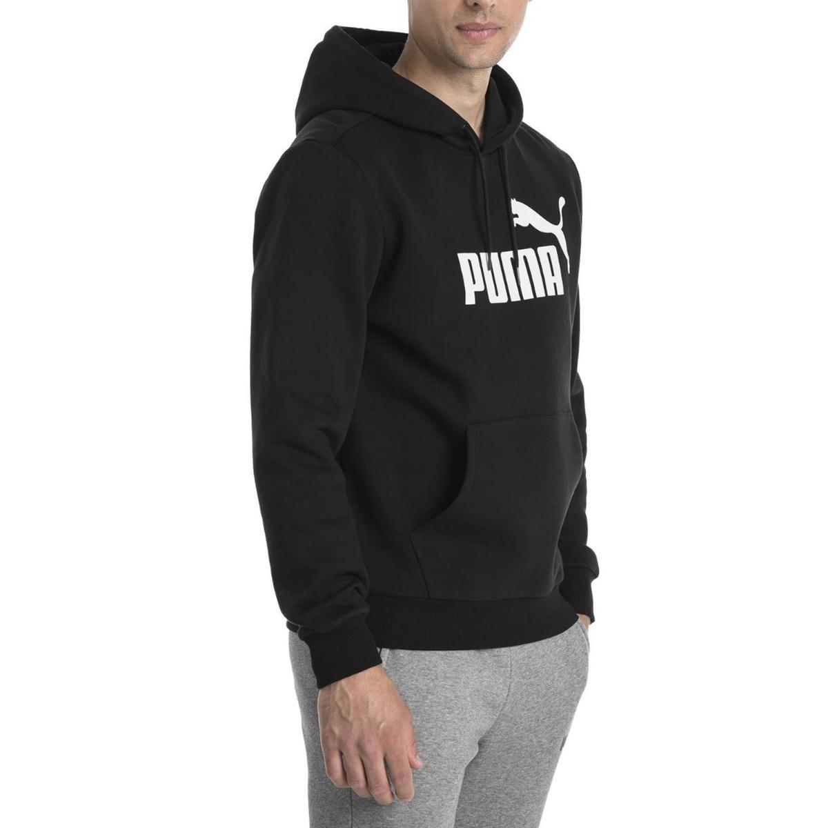 Felpa Puma Essentials con cappuccio con stampa sul petto da uomo rif. 851743