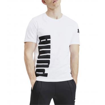 T-shirt Puma Big Logo Tee girocollo con stampa da uomo rif. 580561