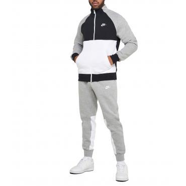 Tuta sportiva Nike NSW Fleece con felpa e pantaloni da uomo rif. BV3017