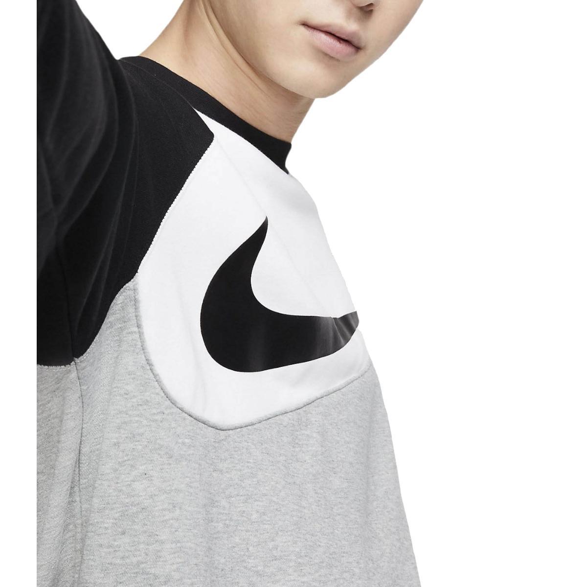 Felpa Nike NSW Swoosh crew fit girocollo con stampa da uomo rif. BV5304
