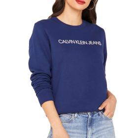 Felpa Calvin Klein Jeans con stampa con logo da donna rif. J20J212483