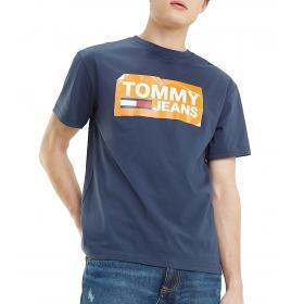 T-shirt Tommy Jeans con logo effetto graffiato da uomo rif. DM0DM06502