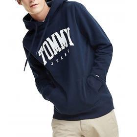 Felpa Tommy Jeans Essentials con cappuccio e logo da uomo rif. DM0DM06590