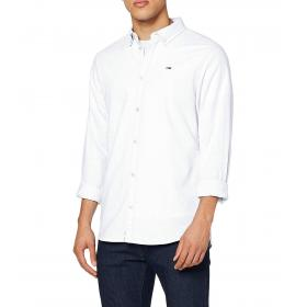 Camicia Tommy Jeans Oxford in cotone stretch da uomo rif. DM0DM06562