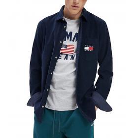 Camicia Tommy Jeans fit comodo in velluto da uomo rif. DM0DM07131