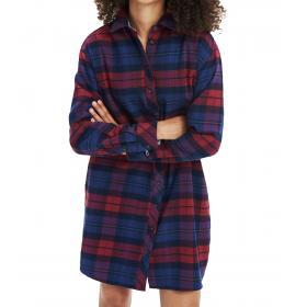 Vestito chemisier Tommy Jeans in flanella a quadri da donna rif. DW0DW07209