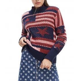 Pullover Tommy Jeans Americana a maglia spessa da donna rif. DW0DW07225