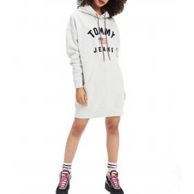 Abito felpa Tommy Jeans con cappuccio e logo da donna rif. DW0DW07233