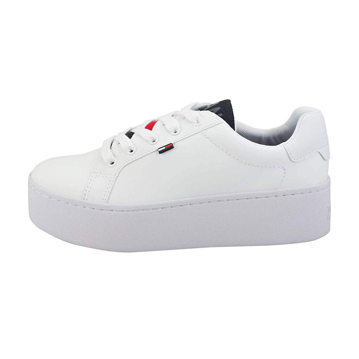 Scarpe Sneakers Tommy Jeans Icon con suola alta donna rif. EN0EN00654