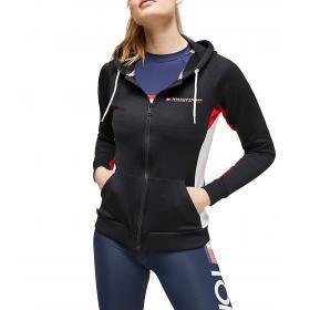 Felpa Tommy Sport con cappuccio e zip con stampa da donna rif. S10S100213