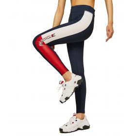 Leggings Tommy Sport con motivo bandiera da donna rif. S10S100301