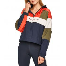 Felpa Tommy Sport idrorepellente color block da donna rif. S10S100309