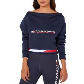 Felpa Tommy Sport con dettaglio a V sulla scollatura da donna rif. S10S100363