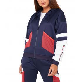 Felpa Tommy Sport color block con cappuccio da donna rif. S10S100366