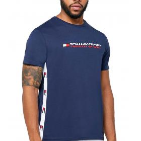 T-shirt Tommy Sport con nastro bandierine da uomo rif. S20S200108