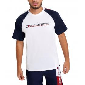 T-shirt Tommy Sport color block in misto cotone da uomo rif. S20S200196