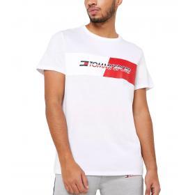 T-shirt Tommy Sport girocollo con stampa con logo da uomo rif. S20S200197