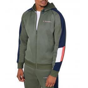 Felpa Tommy Sport con cappuccio e zip con logo da uomo rif. S20S200271