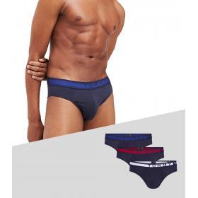 Confezione Slip 3 Pack Tommy Hilfiger con logo in vita da uomo rif. UM0UM01227