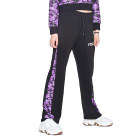 Pantaloni Pyrex in felpa con inserto camouflage da donna rif. 19IPC40612