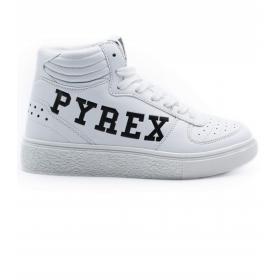 Scarpe Sneakers Pyrex off white con stampa da uomo rif. PY20192B