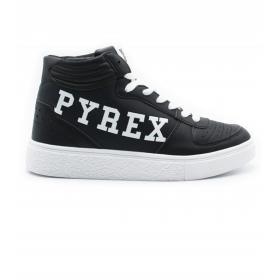 Scarpe Sneakers Pyrex modello da basket in PU con stampa da donna rif. PY20195