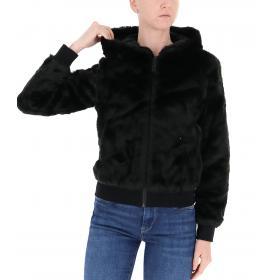 Giubbotto Pyrex in pelliccia sintetica con cappuccio e stampa da donna rif. 19IPC40668