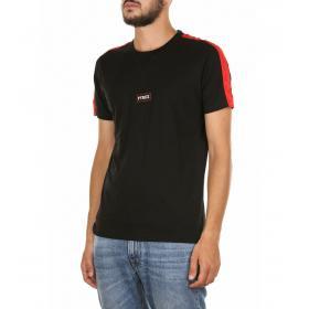 T-shirt Pyrex girocollo con etichetta con logo centrale da uomo rif. 19IPC40506