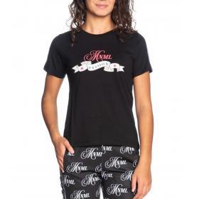 T-shirt Minimal Couture con stampa e bande con logo da donna rif. D1722
