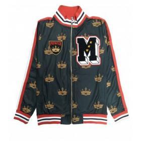 Felpa giacca Minimal Couture con stampa corone all over da uomo rif. U2199