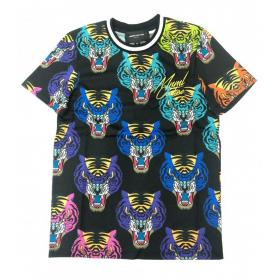 T-shirt Minimal Couture girocollo con stampa tiger face all over da uomo rif. U2177