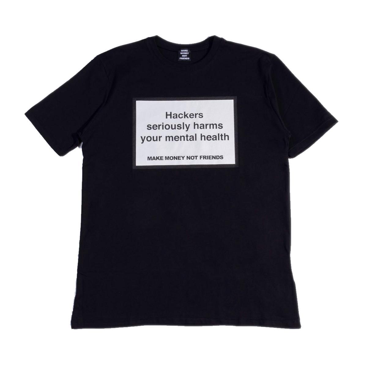 T-shirt Make Money Not Friends con stampa hackers unisex rif. MU171156
