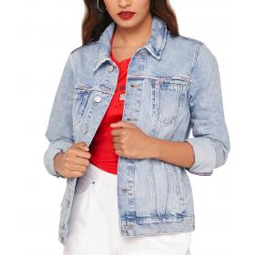Giacca trucker Tommy Jeans con scoloriture in denim da donna rif. DW0DW06866