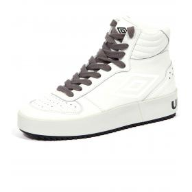 Scarpe Sneakers Umbro da basket a collo alto in pelle da donna rif. U191918B-W