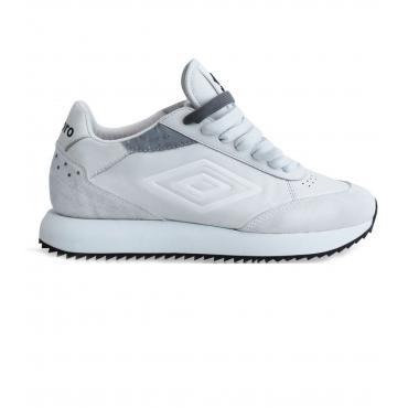 Scarpe Sneakers Umbro Running in pelle e camoscio da donna rif. U191914B-W