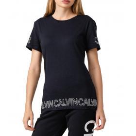 T-shirt Calvin Klein Jeans girocollo con stampa da donna rif. J20J211605