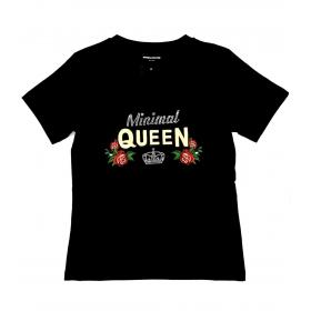 T-shirt Minimal Couture con ricamo logo queen da donna rif. D1738