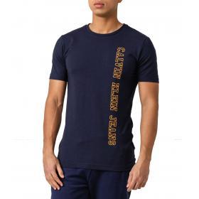 T-shirt Calvin Klein Jeans con stampa laterale verticale da uomo rif. J30J312571